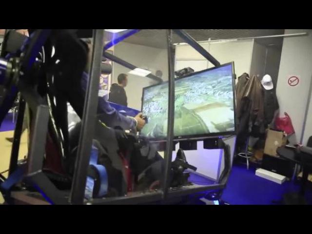 FLY MOTION simulator attraction/ War Thunder/Симулятор полета на самолете