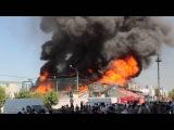 Пожар на стадионе Коммунальщик (Барнаул, ул. Взлетная) 3 из 4