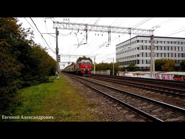 Электровоз ЭП2К-310 (ТЧЭ-33) с почтово-багажным поездом.