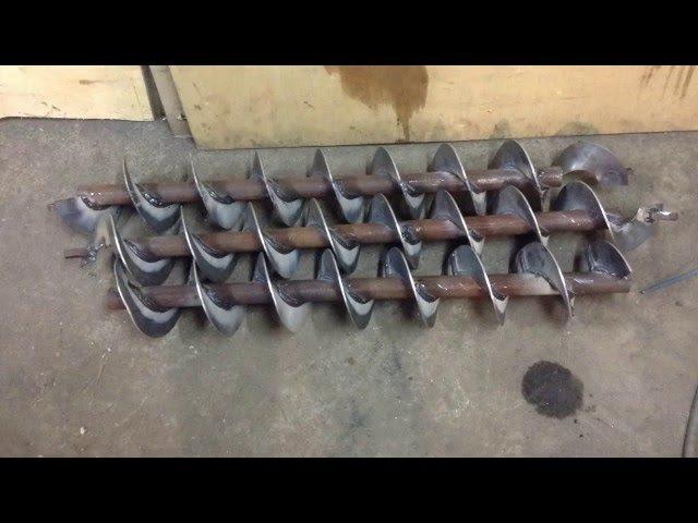 Как изготовить шнеки в условиях гаража