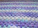 Вязание детского пледа крючком.Просто и красиво! How to crochet a baby blanket.