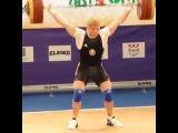 Pavel Khadasevich (-85kg, Belarus) snatching 160kg