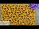 Ажурный узор крючком - Желтый коралл • Yellow coral crochet stitch