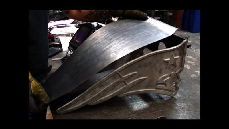 Making of the New England Patriots Football Themed Custom Chopper [OCC]