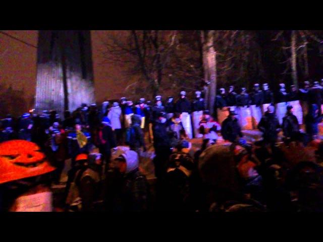 21 января 2014 Киев Грушевского Внутрішні війська з Євромайданом