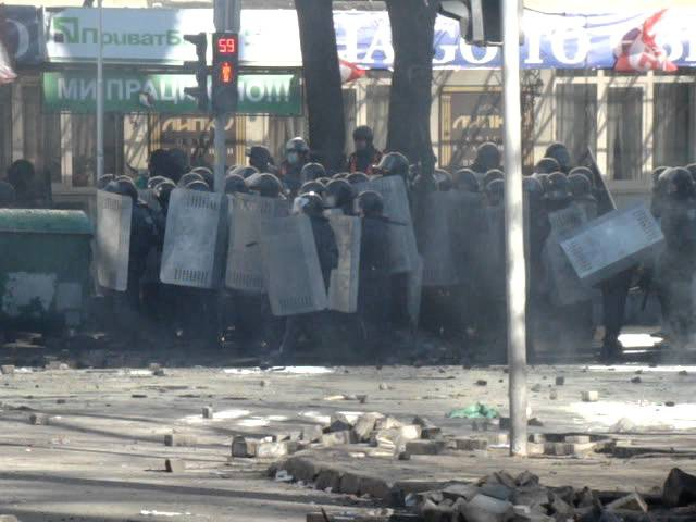 3 Бойові дії на розі Інститутської та Шовковичної 18 лютого