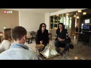 Интервью легендарной группы Kiss перед концертом в Москве