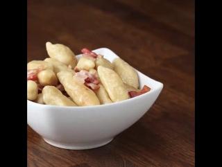 картофельные клецки с беконом