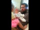 Папа сбрил бороду. Ставим лайк девочке, чтоб не боялась!
