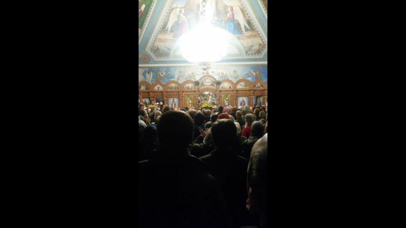 Пасхальное ночное Богослужение в Св. Никольском Храме, Запорожье 2017г.