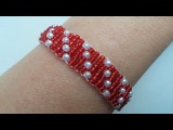 DIY Beaded  Jewelry Project for Valentines Day. Dotted bracelet