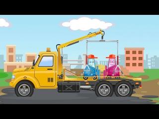Der Gelbe Abschleppwagen Kinderfilme - Lehrreicher Zeichentrickfilm deutsch - Cartoon für Kinder