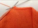 Декоративный и эластичный способ закрытия петель спицами ( полый шнур )
