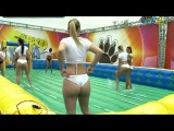 Sexy girls playing soccer● BRA party!  2015 HD ✔