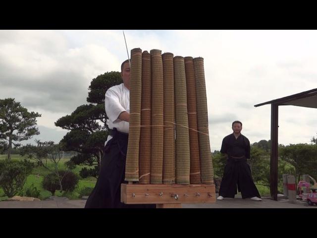 7本斬り 横並び試し斬り 7 Tatami Tameshigiri