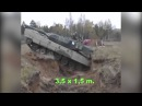 Как танк преодолевает ров на маленькой скорости и большой