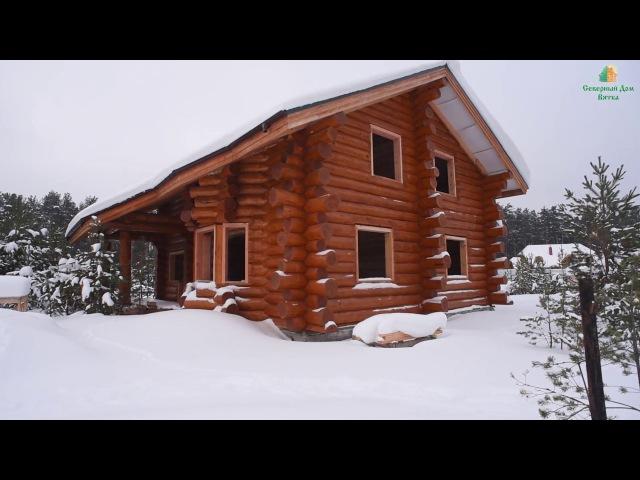 Настоящий рубленный дом Деревянный дом из бревна Подмосковная Сказка