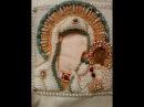 Вышивка бисером по высокому настилу Оклад на икону