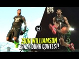 Zion Williamson CRAZY Behind The Back Dunk &amp More!! 16 Year Old The BEST Dunker In High School!