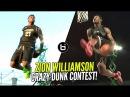 Zion Williamson CRAZY Dunk Contest Dunks!  Can He Compete In The NBA Dunk Contest vs Zach LaVine?