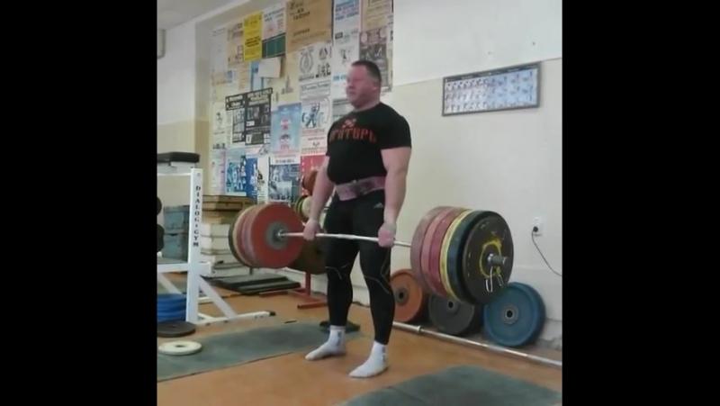 Александр Клюшев, тяга 280 кг на 13 раз