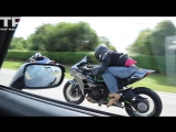 Kawasaki H2 Street Races 1200HP Supra - R1M and Turbo zx-14r bonus footage