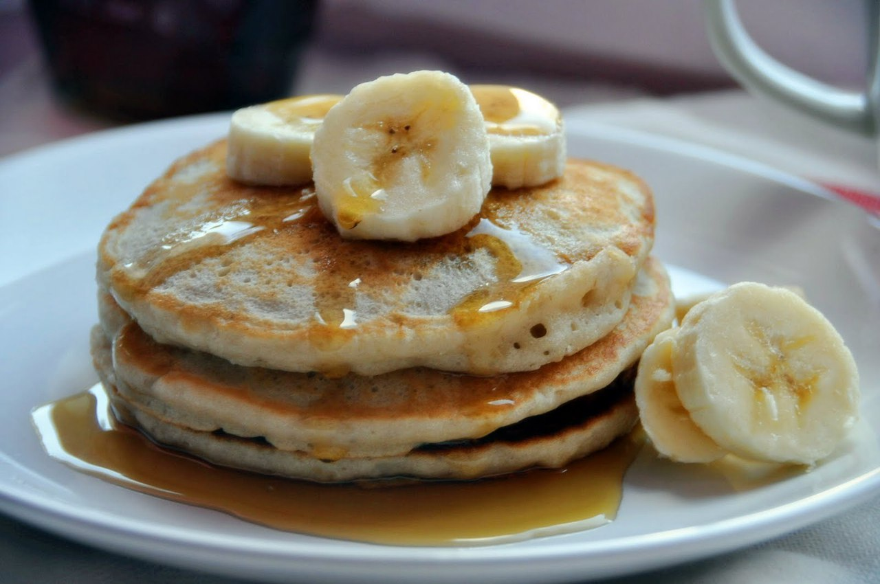 Рецепт панкейки с бананом фото