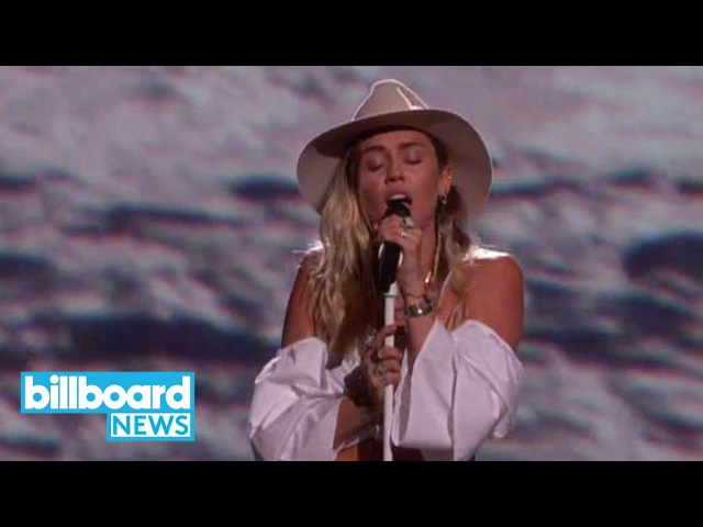 Miley Cyrus Brings 'Malibu' to Live TV for First Time at Billboard Music Awards | Billboard News