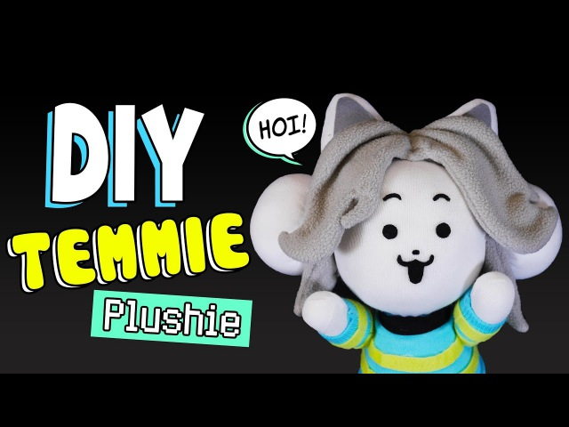 DIY Temmie Plushie with Movable Arms! Undertale Sock Plushie (FREE Pattern) Tutorial