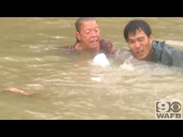 Unreal Rescue In Baton Rouge Floodwater