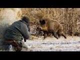 Классная охота на  кабана - Вот это я понимаю адреналин!!!