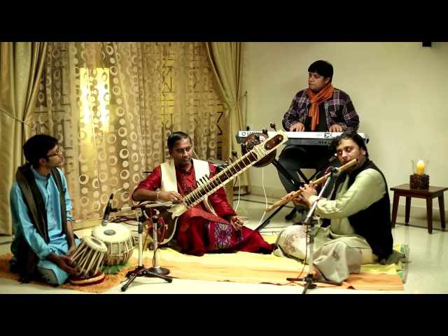Classical Instrumental (Fusion) - Raag Madhuvanti - Ateetam - Tabla Sitar Flute Keyboard
