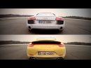 AWD Porsche 911 (991 Mk1) Carrera 4S vs. Audi R8 V8 4.2FSi Quattro - Launch Control / Start!