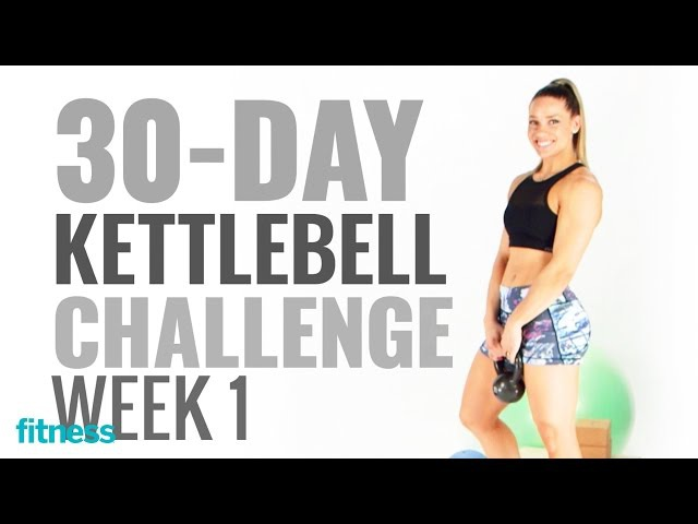 Week 1 Lunges and Presses 30 Day Kettlebell Challenge with @kaisafit Fitness