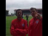 Louis and Ben Shepard trash talking the Rest of the World team (BBC News Beat)