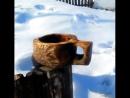 Деревянная кружка кукса Kuksa делаем своими руками. Резьба по дереву урок
