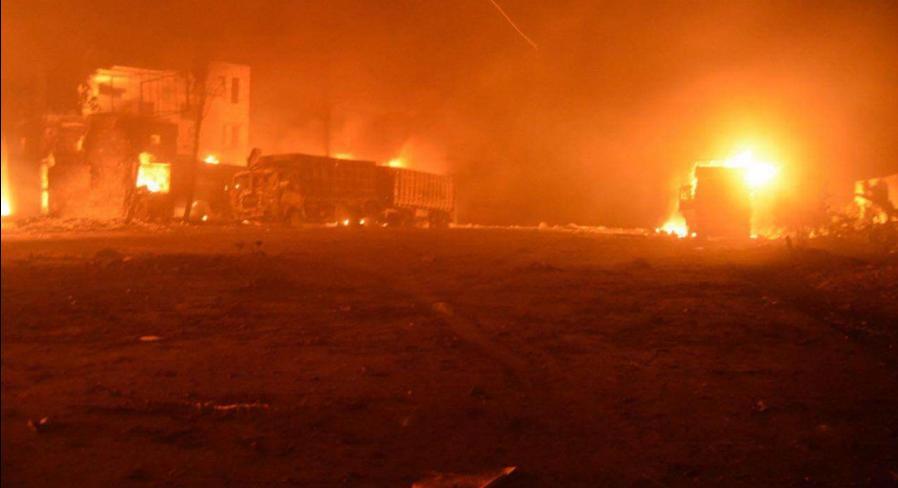 Росія розбомбила гуманітарний конвой ООН та Червоного Хреста в Сирії
