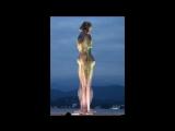 Georgia Batumi Statue of Love at night