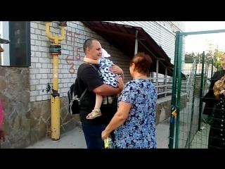 Вся дружная семейка забирает меня из детского садика)