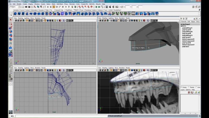 3D Palace Basilisk Maya Modiling Masterclass (ENG)