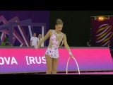 Aleksandra Soldatova. 2017 European Championships. Qual. Hoop
