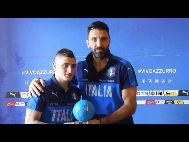 Pallone Azzurro 2016 Gianluigi Buffon eredita il premio da Marco Verratti