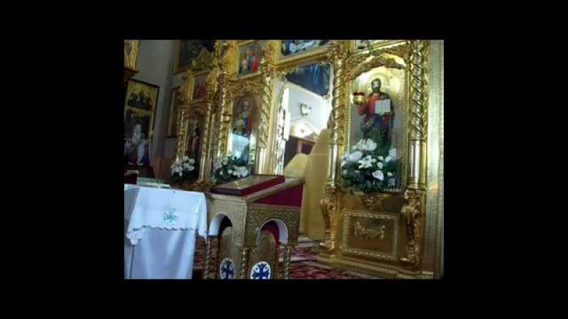 Sf Impartasanie, Moleben sf. cuv. Agafia din Cuslauca. Propovaduirea par. Petru.