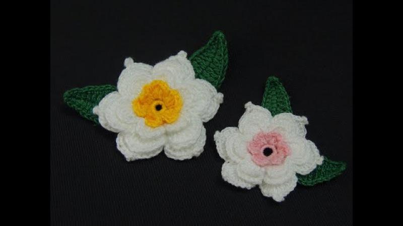 Flor de crochê de 3 camadas - Parte 1