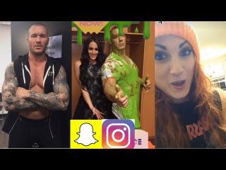 WWE Snapchat/IG ft. John Cena, Paige, Randy Orton, Becky Lynch n MORE