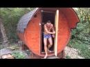 Баня бочка для зон отдыха