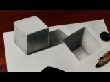 How to Draw a 3D Cube and Hole