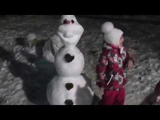 ВЛОГ . Олаф Лепим снеговика. Холодное сердце.. sculpt Snowman...