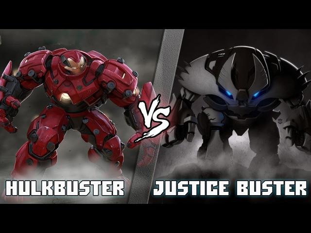 Халкбастер (Железный Человек) vs Джастис Бастер (Бэтмен) / Hulkbuster vs Justice Buster - [bezdarno]