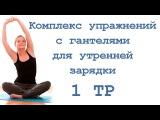Комплекс упражнений с гантелями для утренней зарядки (1 тр)